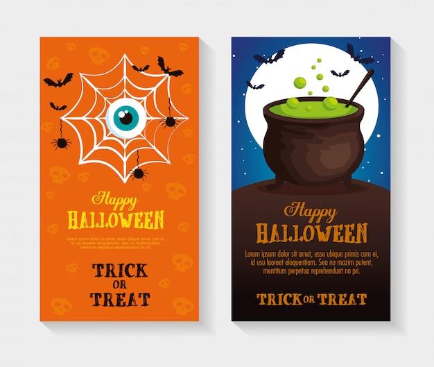Happy halloween set set de cartas