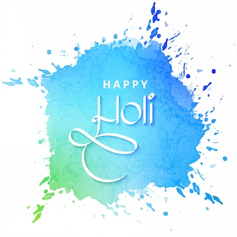 Happy holi festival card