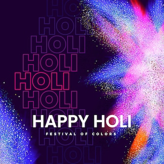 Happy holi festival explosión de colores
