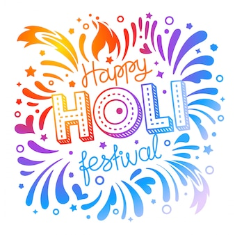 Happy holi festival vector banner