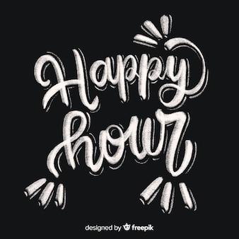 Happy hour letras en pizarra