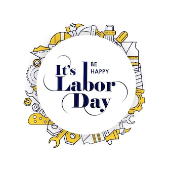 Happy labors day card