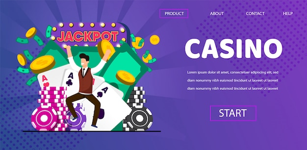 Happy lucky man winner hit jackpot en casino