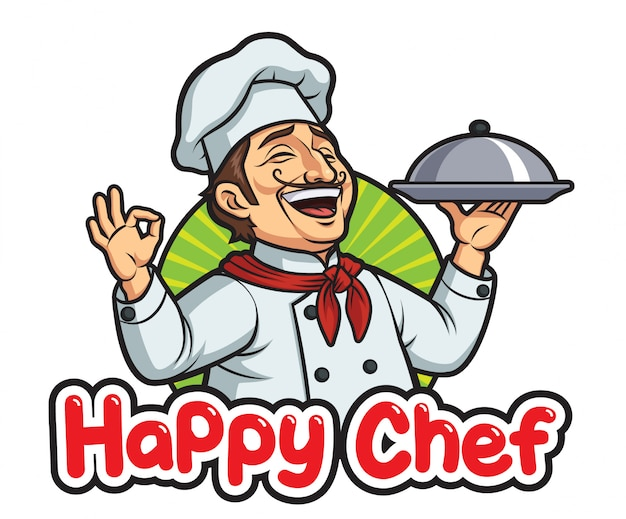 Happy male chef