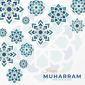 Happy muharram social media premium template con mandala