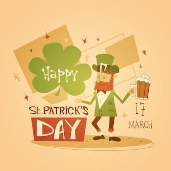 Happy patrick day festival cerveza fiesta cartel fest