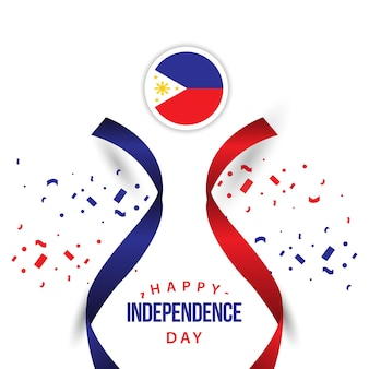 Happy philippines independent day vector plantilla de diseño