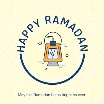Happy ramdan typogrpahy con vector de diseño elegent