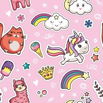 Have nice day message kawaii card girlish template