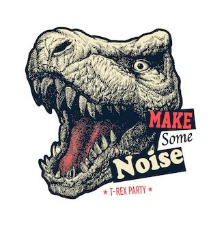 Haz un gráfico de eslogan de ruido