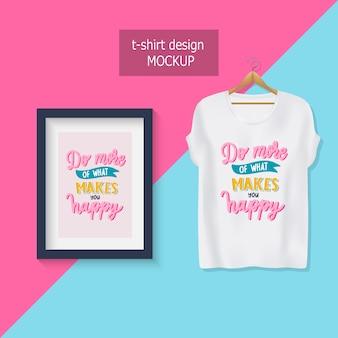 Haz mas de lo que te hace feliz. letras de citas motivacionales. diseño de camiseta.
