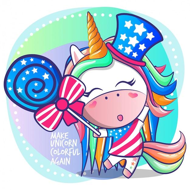 Haz unicornio colorido otra vez.