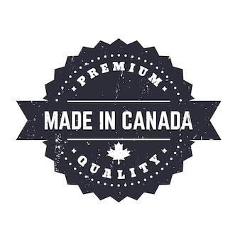 Hecho en canadá, insignia vintage, signo aislado en blanco