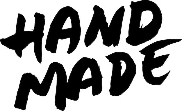 Hecho a mano dibujado a mano pincel seco letras logotipo moderno para productos y tiendas ilustración vectorial