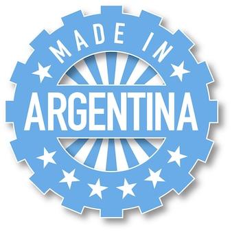 Hecho en sello de color de la bandera de argentina. ilustración vectorial