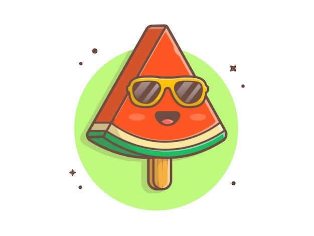 Helado de sandía de verano