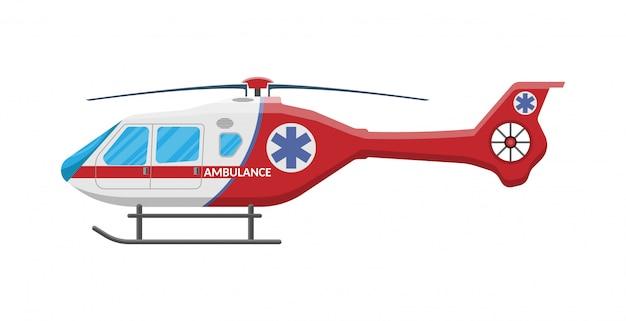 Helicóptero de ambulancia helicóptero de evacuación médica