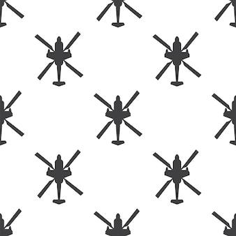 Helicóptero, patrón transparente de vector, editable se puede utilizar para fondos de páginas web, rellenos de patrón