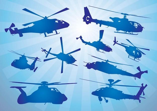 Helicópteros de vectores