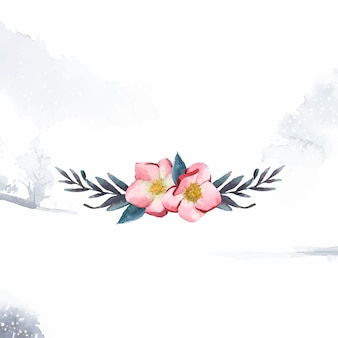 Hellebore flores pintadas por acuarela vector