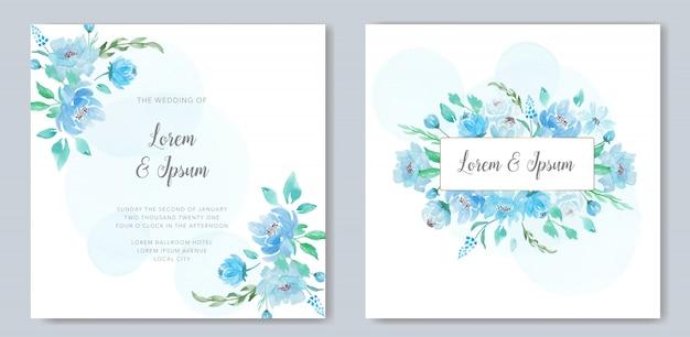 Hermosa acuarela floral para invitación de boda