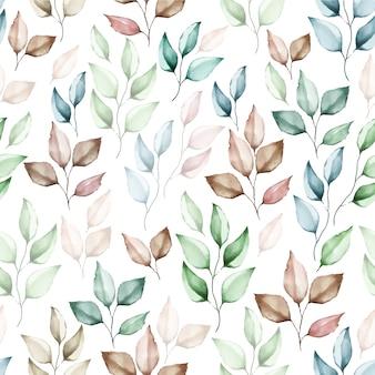 Hermosa acuarela floral de patrones sin fisuras