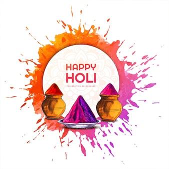 Hermosa celebración colorida holi