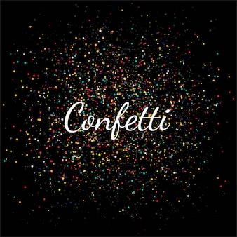 Hermosa celebración de confeti de colores