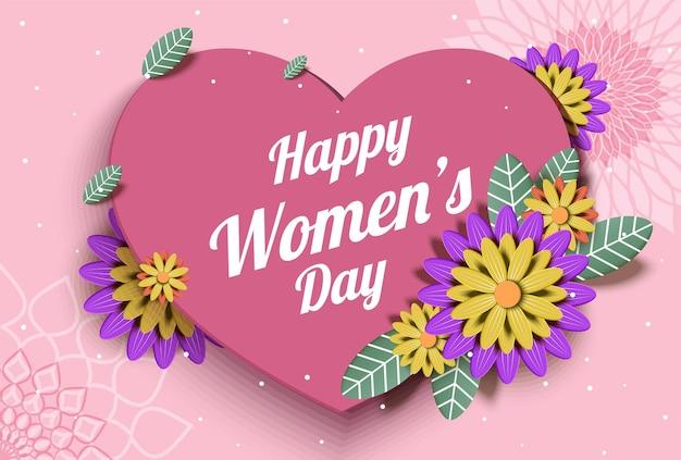 Hermosa celebración internacional del día de la mujer feliz