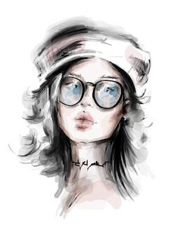 Hermosa chica con sombrero.