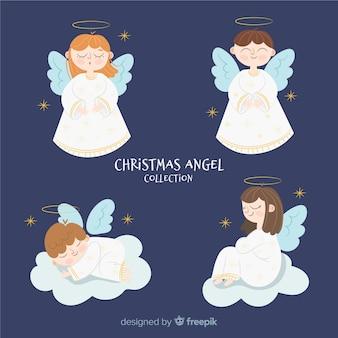 Hermosa colección de ángeles de navidad