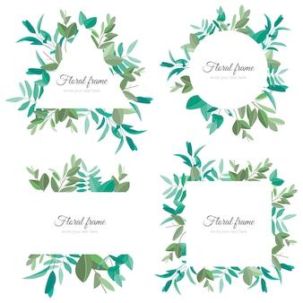 Hermosa colección de marcos florales
