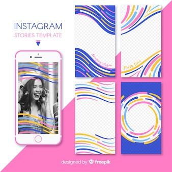 Hermosa colección de plantillas de stories de instagram