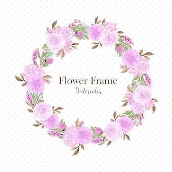 Hermosa corona floral púrpura suave de usos múltiples