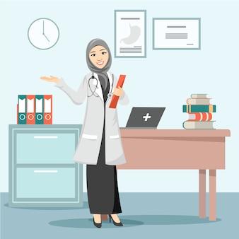 Hermosa doctora musulmana