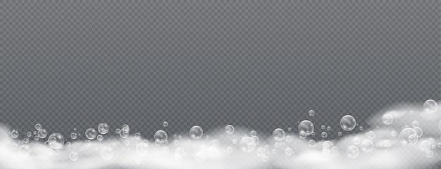 Hermosa espuma y burbujas