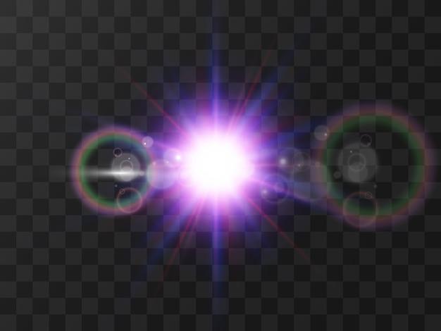 Hermosa estrella brillante. ilustración de un efecto de luz