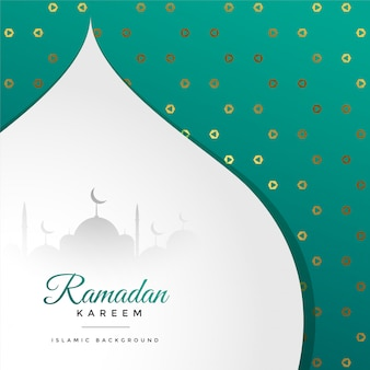 Hermosa fiesta de ramadan kareem saludo