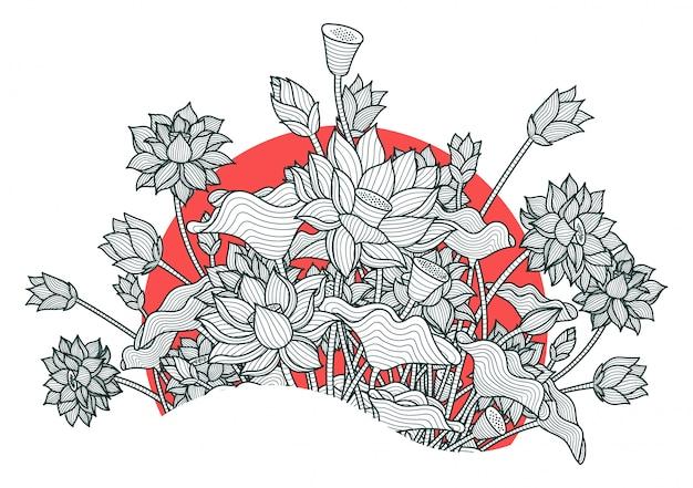 Hermosa flor de loto