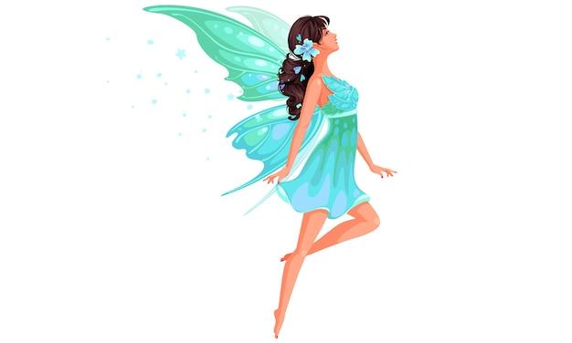 Hermosa hada volando ilustración