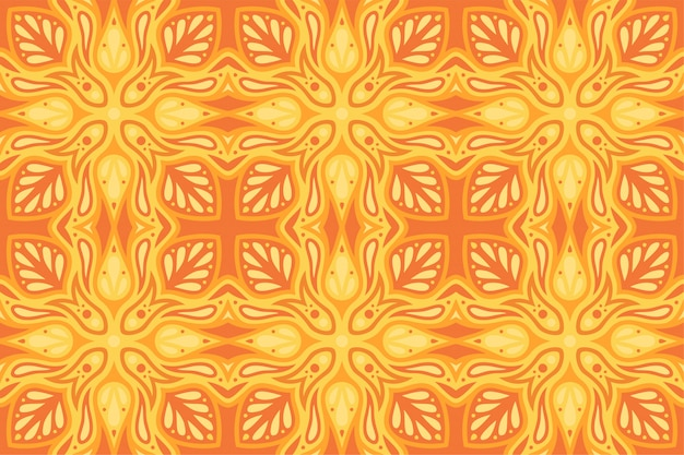 Hermosa ilustración naranja abstracta con patrón transparente llameante caliente