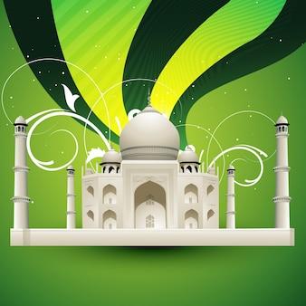 Hermosa ilustración del taj mahal
