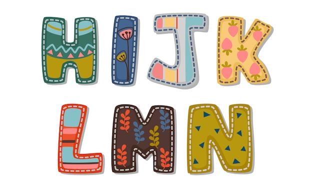 Hermosa impresión en alfabetos de fuentes en negrita para niños parte 2