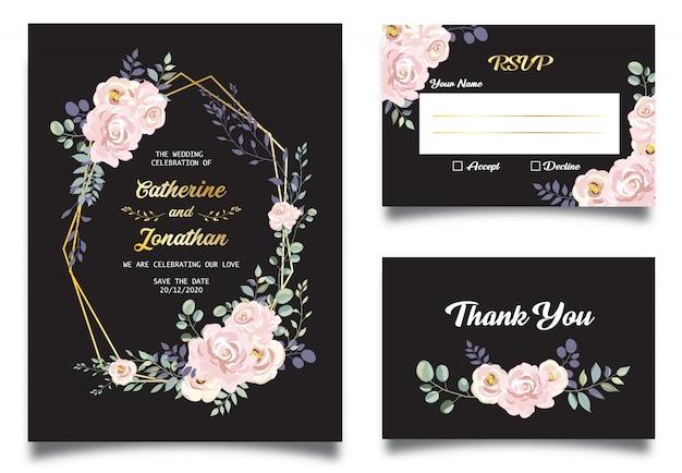 Hermosa invitación de la boda