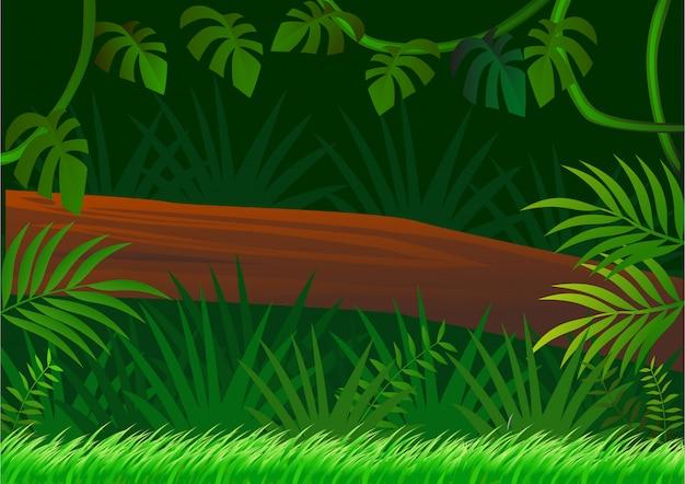 Hermosa jungla verde con muchos árboles