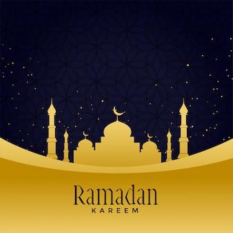 Hermosa mezquita dorada con fondo de estrella