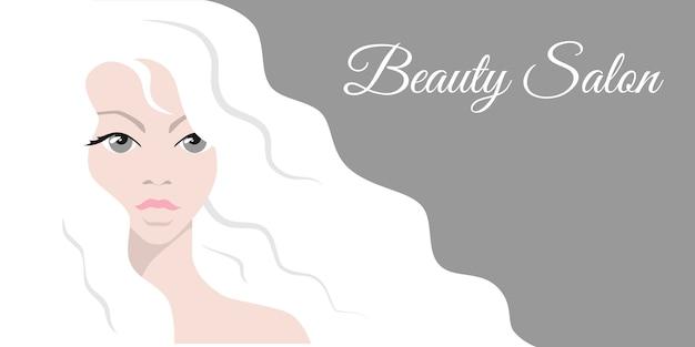 Hermosa mujer de pelo blanco.