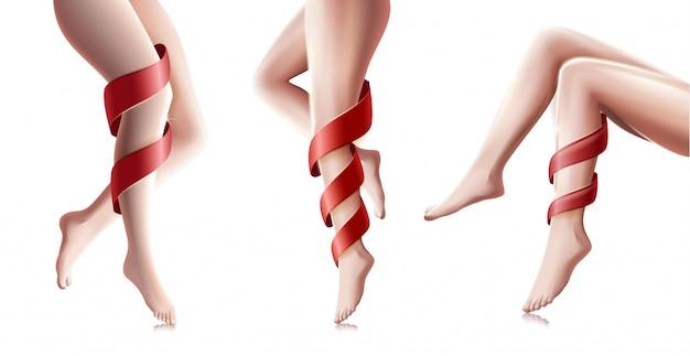 Hermosa mujer piernas largas en diferentes poses