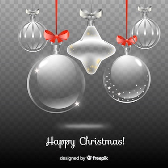 Hermosa navidad en fondo transparente