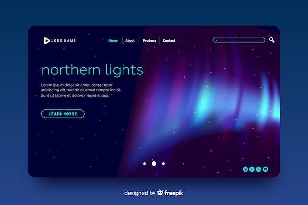 Hermosa página de inicio de la aurora boreal